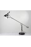 Lampe de bureau E. Buquet en métal chromé et socle en bois noir. Contract&More.