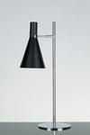 Lampe de table en métal noir et chromé Stilnovo. Contract&More.
