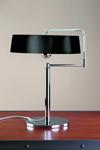 Lampe de table noire et chromée de Pierre Chareau . Contract&More.