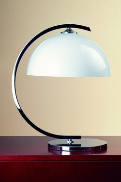 Lampe de table style Bauhaus 1930 chromée. Contract&More.