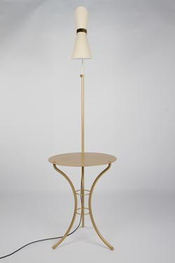 Lampe - table Vintage doré. Contract&More.