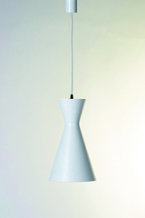 Stilnovo conical white pendant lamp, two lights. Contract&More.