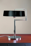 Black and chrome table lamp by Pierre Chareau. Contract&More.