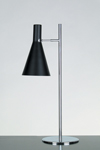Black and chrome metal table lamp Stilnovo. Contract&More.