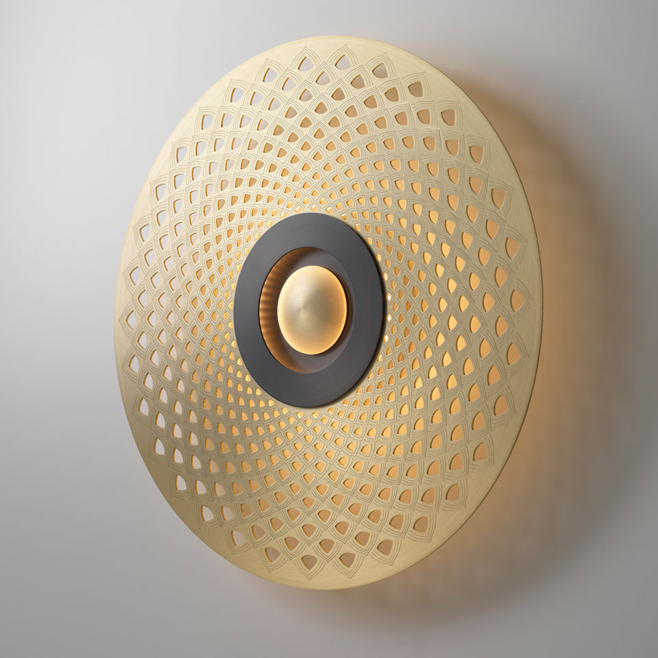 Applique EARTH-MANDALA petit modèle. CVL Luminaires.