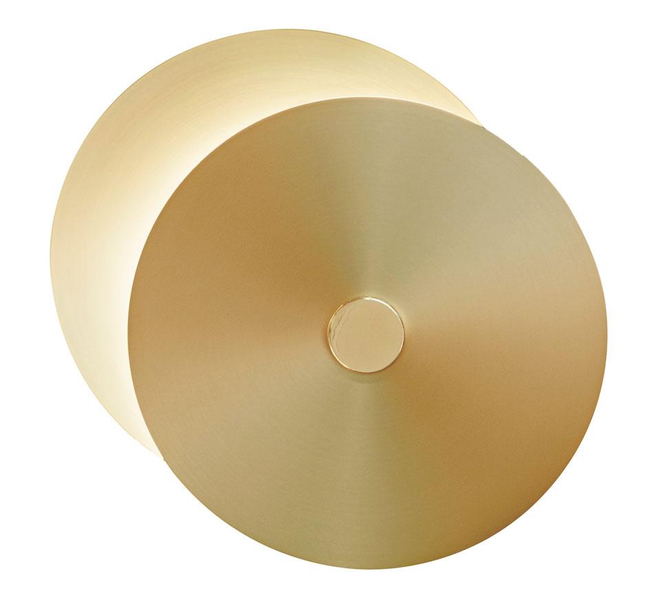 Applique ronde 2 disques petit modèle Eclipse . CVL Luminaires.