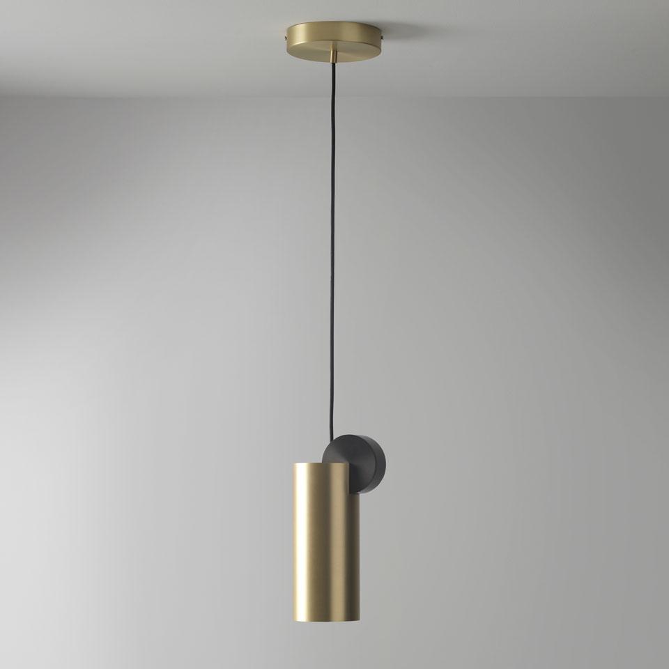 cal e v3 suspension design cylindrical graphite and gold. Black Bedroom Furniture Sets. Home Design Ideas