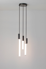Signalx3 design pendant, neon style, three lights. CVL Luminaires.