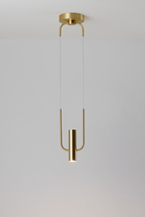Storm pendant in satin brass. CVL Luminaires.