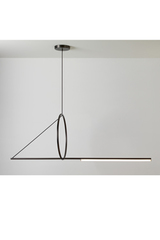 Suspension ultra-design, cercle en suspension, finition graphite satiné. CVL Luminaires.