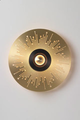 EARTH-SUN large satin brass wall lamp. CVL Luminaires.
