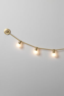 Garland of July 14th XS, 5 lights golden matte wall lamp. CVL Luminaires.