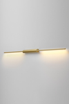 LINK double reading-wall lamp, in satin brass 130cm. CVL Luminaires.