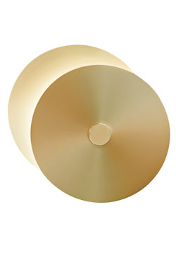 Round wall lamp 2 discs small model Eclipse. CVL Luminaires.