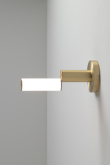 Signal Design wall lamp in satin brass. CVL Luminaires.