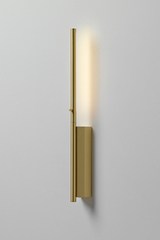 Ultra-design reading-wall lamp, in satin brass LINK 41cm. CVL Luminaires.