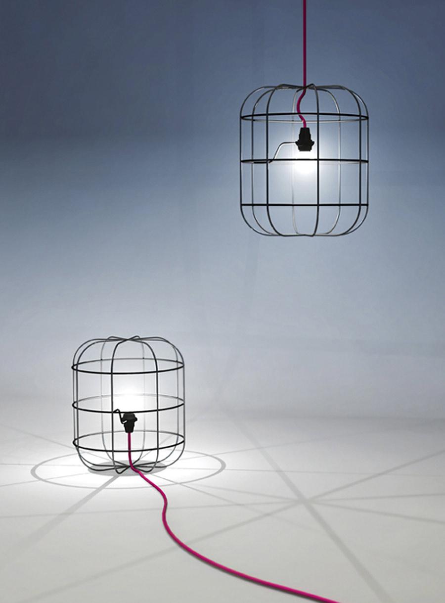 La Cage lampe à poser. Dark.