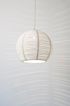 Suspension boule en rotin blanc 40cm. Dark.