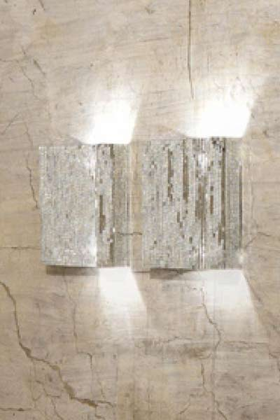 Flash  luminaire 50 x 50 x 7cm argent. Davide Medri.