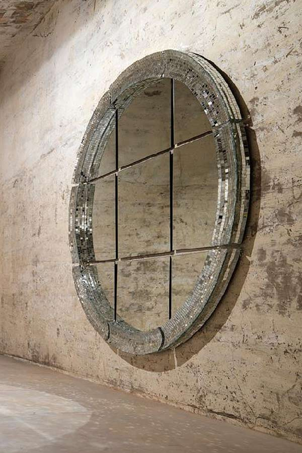 Giant point miroir par davide medri r f 10030541 for Miroir mosaique rond