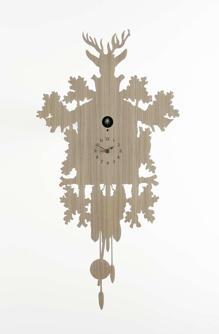 Coucou Wood bouleau naturel - Horloges et pendules design ...