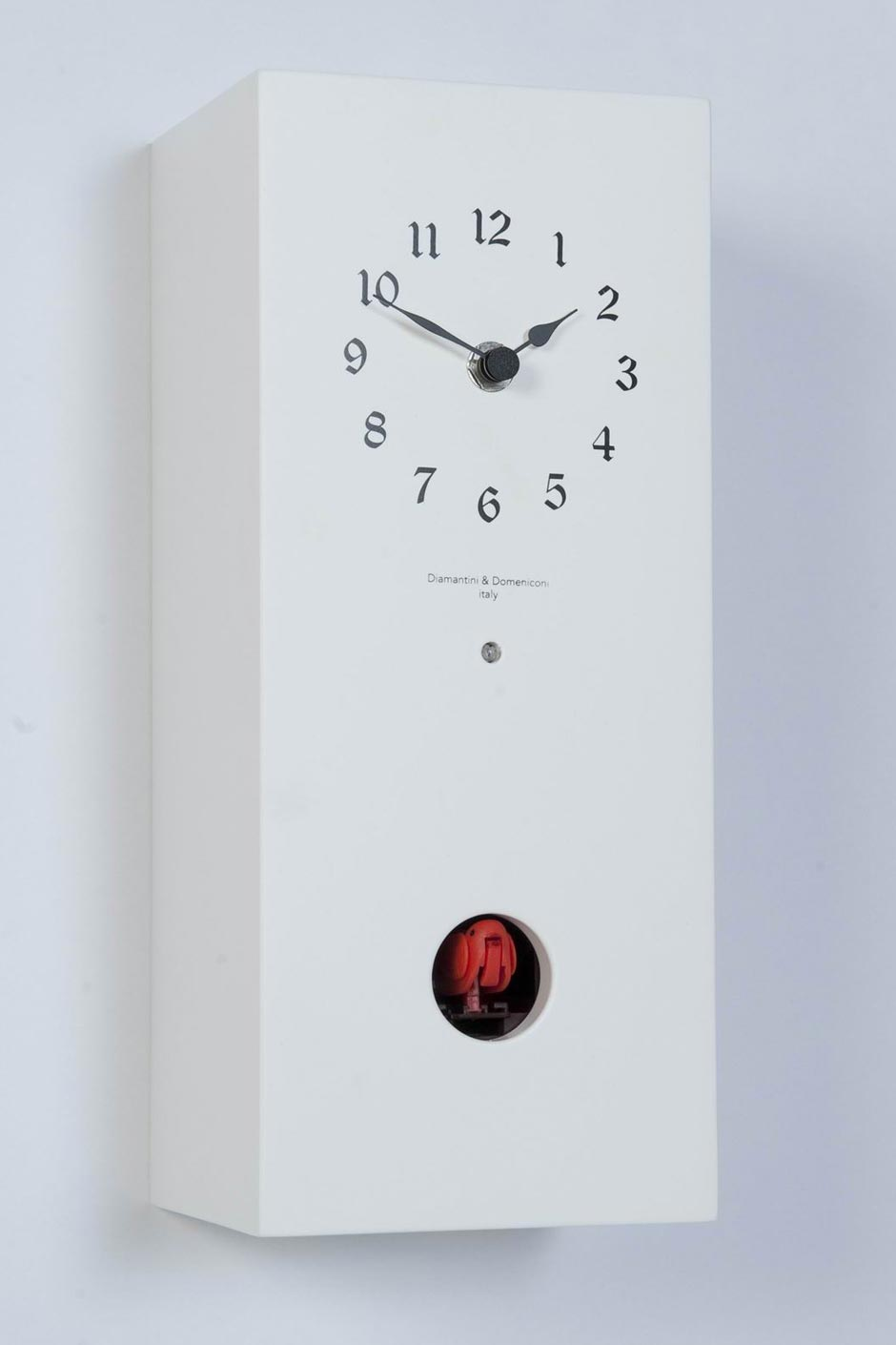 Arcoiris nature blanc pendule coucou en bois laqu blanc horloges et pendules design - Koekoeksklok diamantini ...