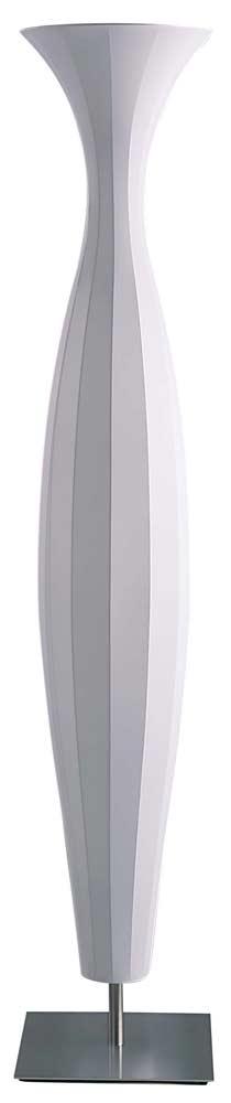 Athéna lampadaire tissu blanc 2,18m. Dix Heures Dix.