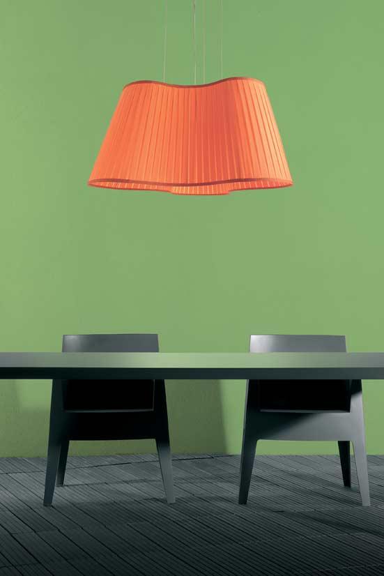 etoile suspension en tissu orange cl mentine par dix heures dix r f 10020420. Black Bedroom Furniture Sets. Home Design Ideas