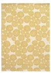 Tapis Blooming Flower jaune 135x190. Edito Paris.