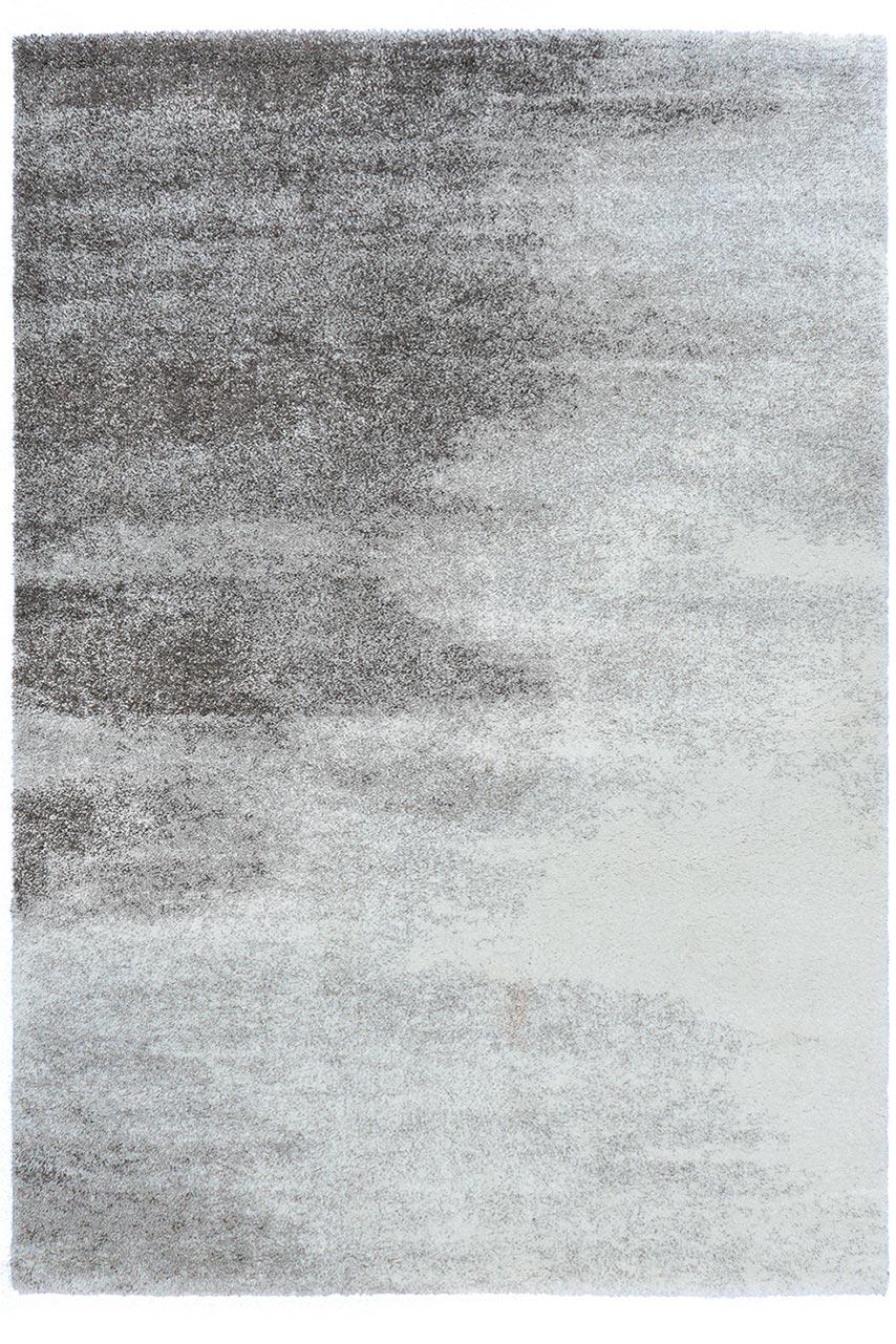 tapis contemporain degrade de gris et ecru
