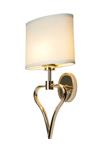 Applique de salle de bain cœur dorée Falmouth. Elstead Lighting.
