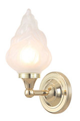 Applique de salle de bain flamme Austen 3. Elstead Lighting.