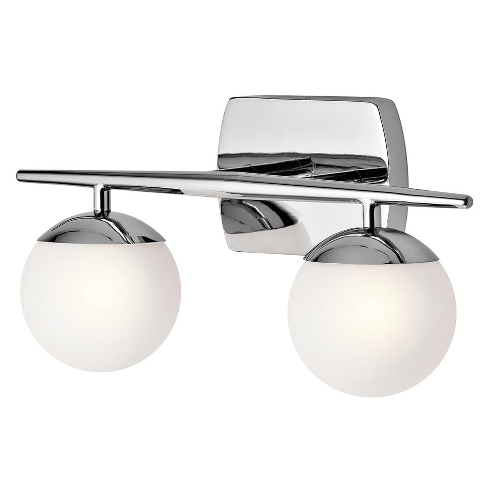 Applique style années 50, en métal chromé et éclairage LED, IP44