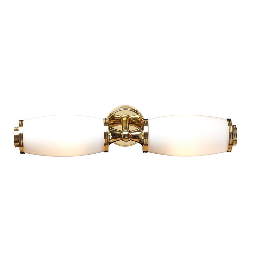 Double applique de salle de bain en laiton doré Eliot : Luminaires ...