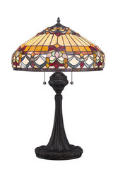 Lampe de table Tiffany aux motifs floraux. Elstead Lighting.
