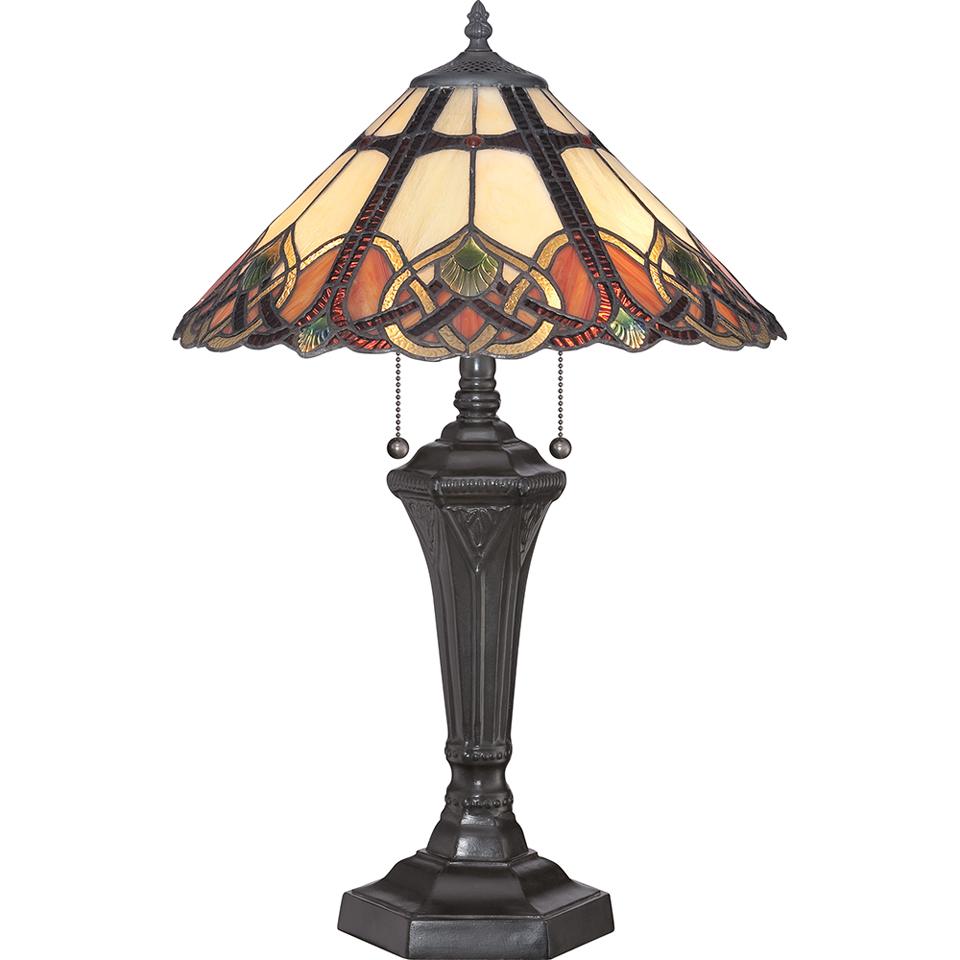 Lampe de table Tiffany Cambridge. Elstead Lighting.