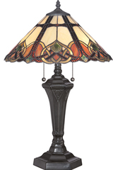 Lampe de table Tiffany Cambridge. Elstead Lighting.