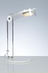 Bye lampe de bureau blanche en polycarbonate transparent. Emporium.