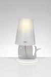 Lampe de table baleine grise. Emporium.