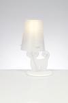 Lampe de table Chat blanc. Emporium.