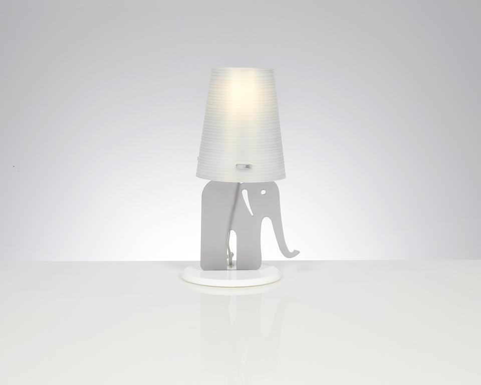 Lampe de table Eléphant grise. Emporium.
