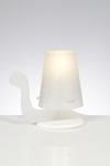 Lampe de table Escargot blanc. Emporium.