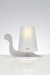 Lampe de table Escargote grise. Emporium.