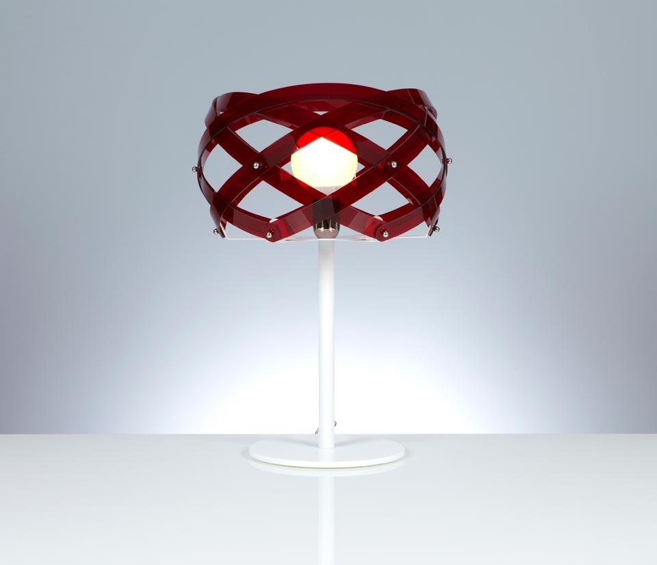 Lampe à poser Nuclea rouge. Emporium.