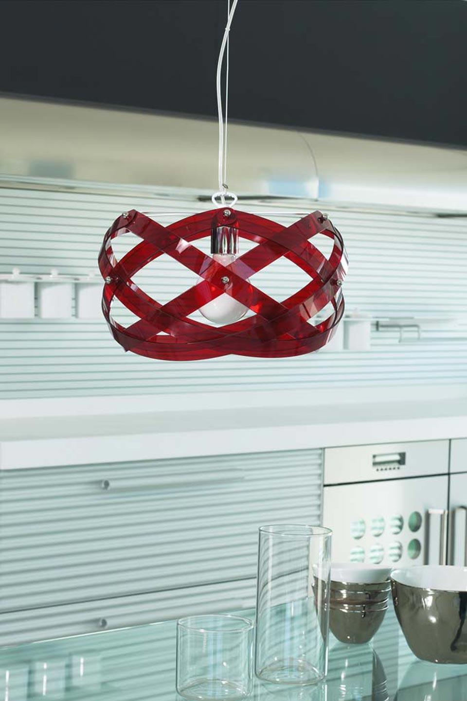 Nuclea suspension rouge petit modèle. Emporium.