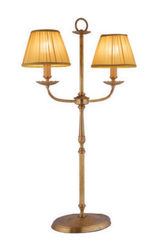 Lampe double en bronze vieilli ajour et abat jour tissu pliss adara r f 13090020 - Abat jour ajoure ...