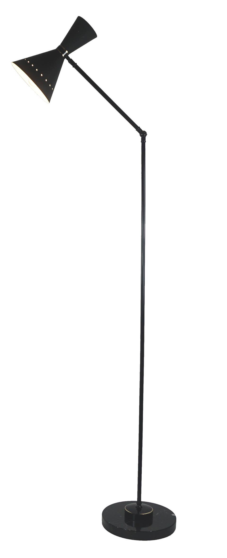 Diva black articulated floor lamp. Estro.