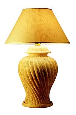Lampe en céramique brute torsadée Gozo . Estro.