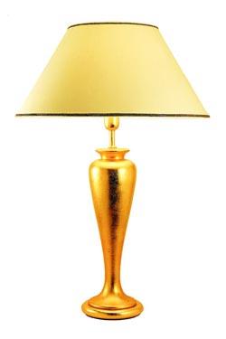 Lampe feuilles d'or sur céramique Wetar. Estro.