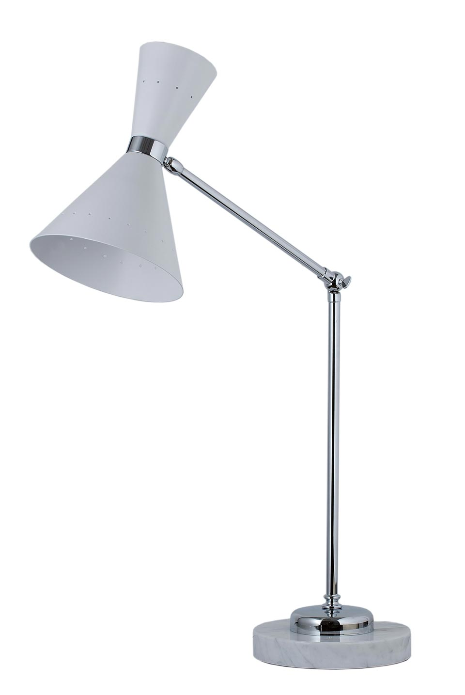 Diva white table lamp Italian Stilnovo. Estro.